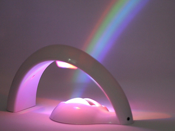 night light that projects a rainbow. i would have this in my room! lol