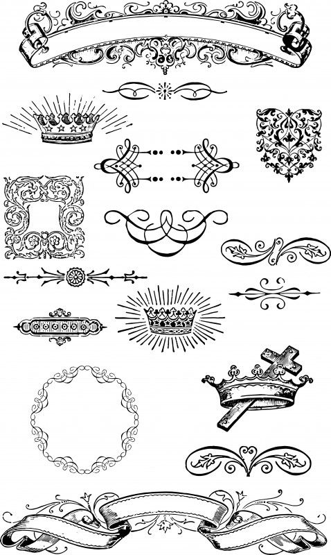 Free Vintage Grunge Vector and Clip Art Ornaments for T-Shirt Design