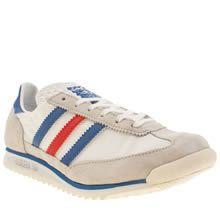 womens adidas white & blue sl 72 trainers