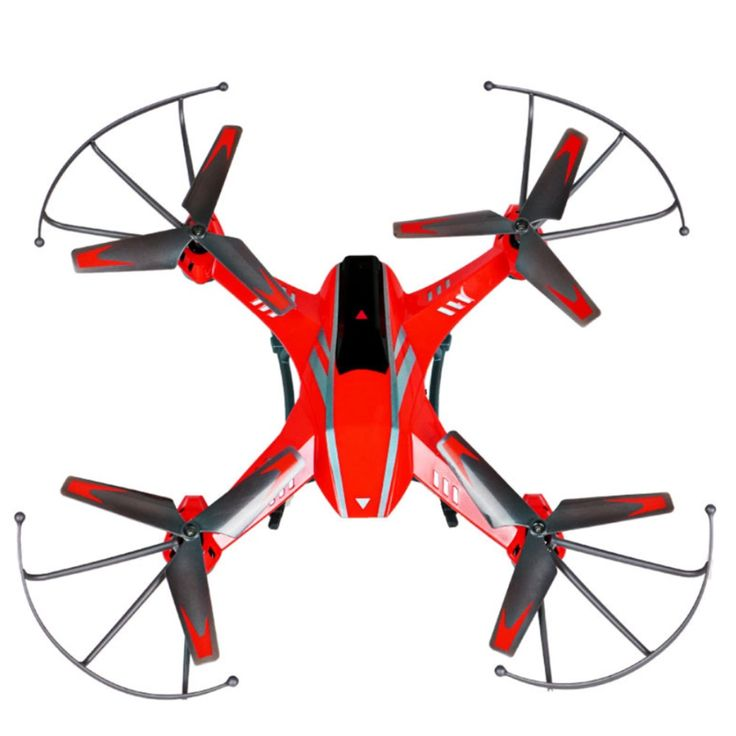 Attop YD-A8C Counterattack RC Quadcopter Helicopter 2.4GHz 4CH 6 Axis Gyro 360 Degree Eversion One Key Roll 2.0MP Camera - Red