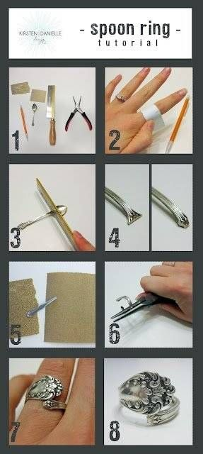 Spoon Rings tutorial!!. :) Great gift idea and a neat way to