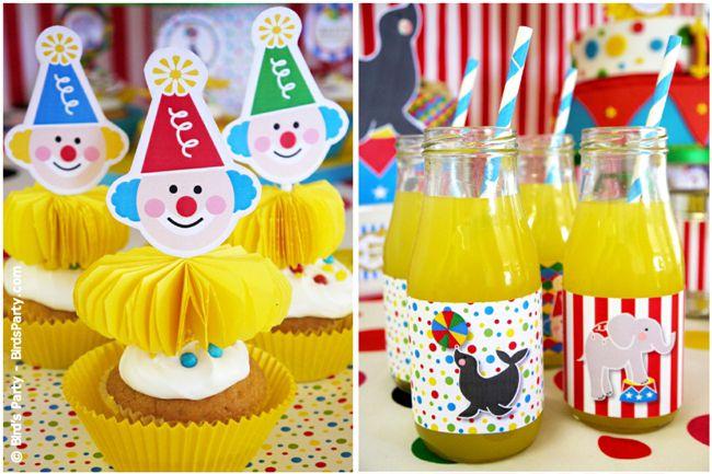 Cumplea os inspirado en el circo fiestas infantiles de - Decoracion de fiestas de cumpleanos infantiles ...