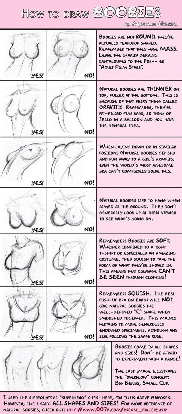 Angehende Künstler da draußen? Oder Leute, die es lieben, ahem, Brüste zu zeichnen? Nun, hier ist ein hilfreicher Guide.  Warnung: In di...