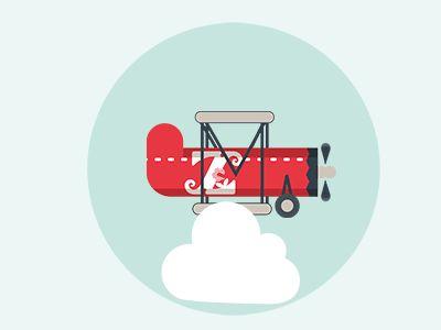 Biplano #illustration #illustrazione #animation #gif