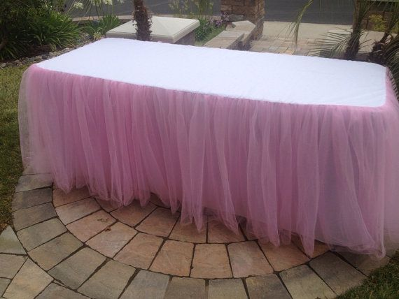 Pink Tulle Tablecloth by CandyCrushEvents on Etsy, $175.00