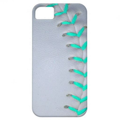 Light Blue Stitches Baseball / Softball iPhone 5 Cases
