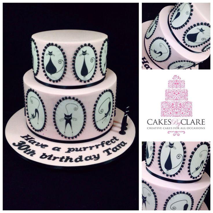 Cat inspired cake