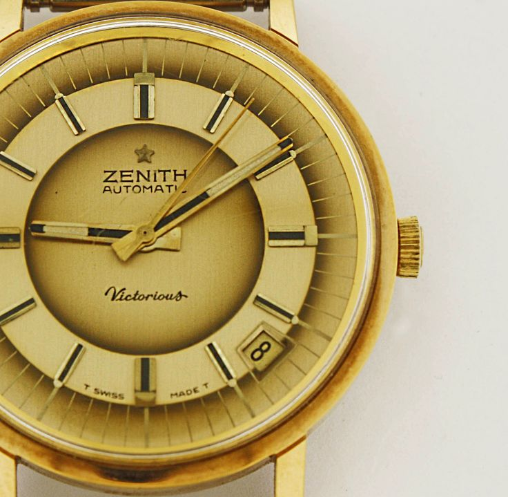 Zenith automatic Victorious Gold -Great different tones of gold- #watch #vintage #gold