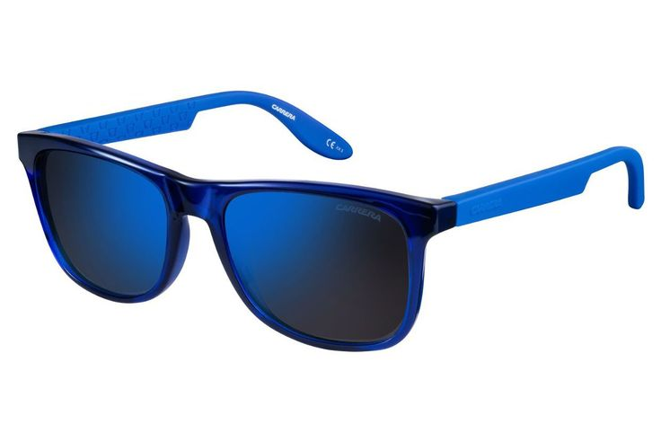 Carrera - 5025/S Blue Sunglasses, Blue Sky Mirror Lenses