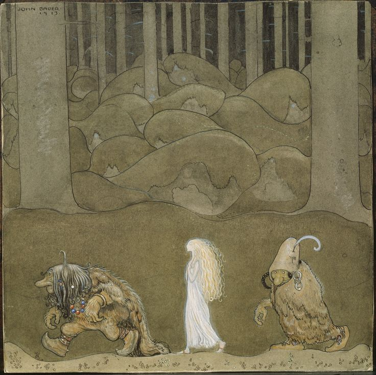 John Bauer (1882–1918) Prinsessan och trollen (The princess and the trolls) 1913 https://commons.wikimedia.org/wiki/File:John_Bauer_-_The_Princess_and_the_Trolls_-_Google_Art_Project.jpg