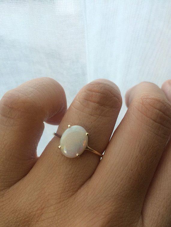 Opalring Opal-Verlobungsring 14 k Opalring von charlieandmarcelle