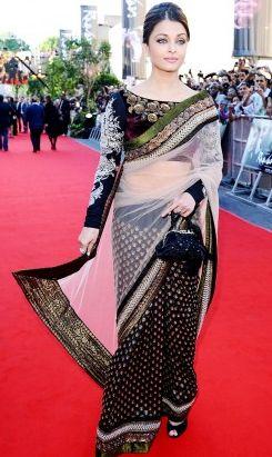 Aishwarya rai's raavan premier saree – Panache Haute Couture