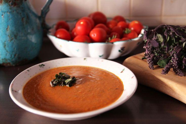 Pečená+paradajková+polievka