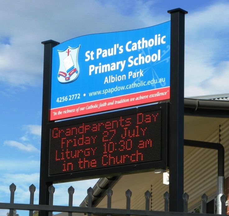 St Paul's Catholic Primary School #CSI #school sign