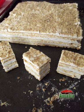 Prajitura cu crema de miere si nuci 12