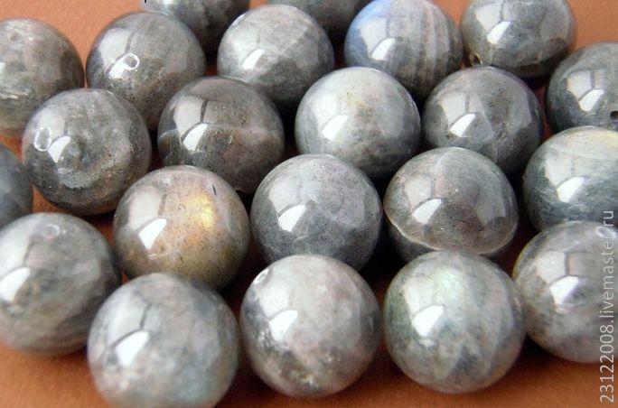 Купить ЛАБРАДОР. ГЛАДКИЙ, ШАР. № 120 - серый, лабрадор, лабрадор натуральный, камни