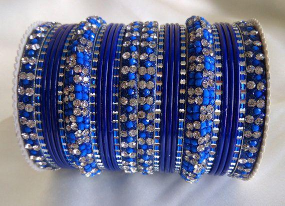 Blue Color Indian #Designer #Bangles Set #Women by Shoppingover