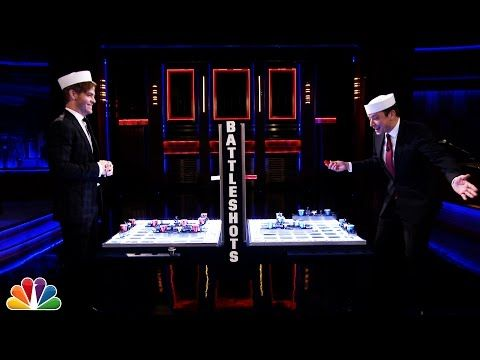 """Chris Pine and Jimmy Fallon Play """"Battleshots"""" -- And It's Hilarious! 
