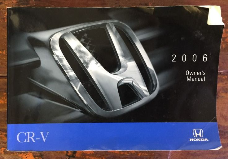 CR-V CRV 06 2006 Honda Owners Owner's Manual