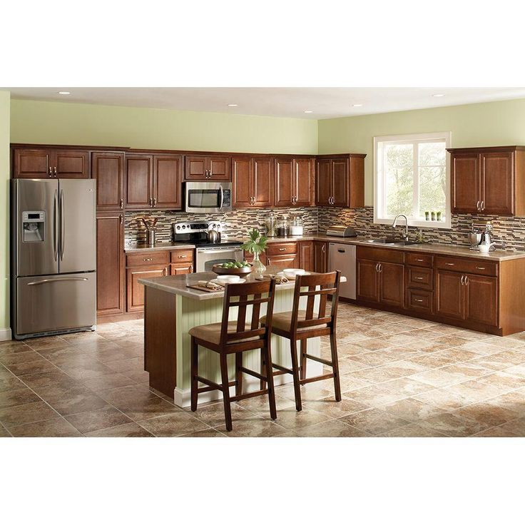 Best Hampton Bay 18X84X24 In Pantry Cabinet In Cognac Kp1884 640 x 480