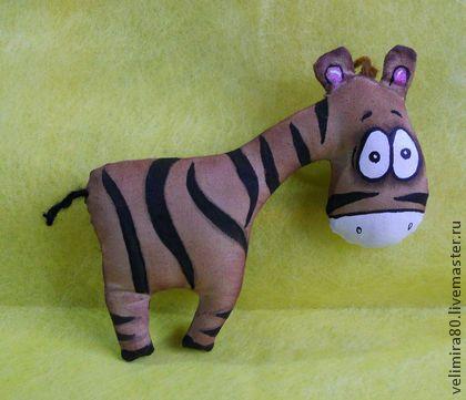 Зебра Юлия. - коричневый,игрушка ручной работы,игрушка,текстильная игрушка