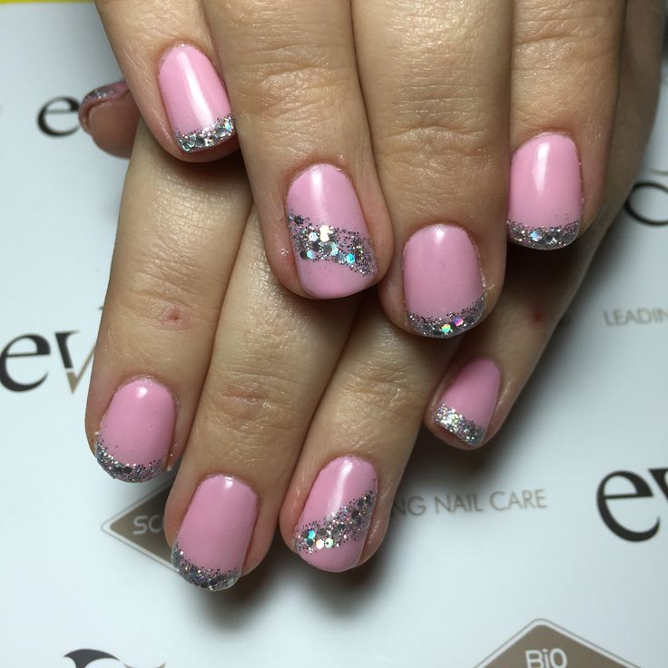 Pink marshmallow with glitter