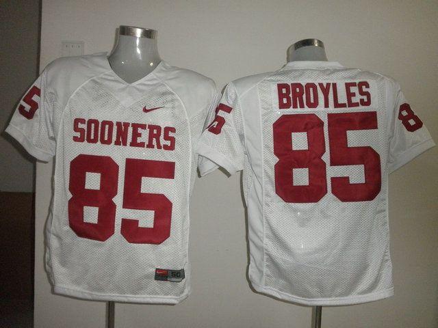 Men's NCAA Oklahoma Sooners #85 Ryan Bryoles White Jersey