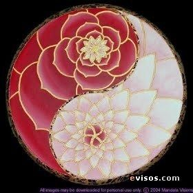 don't love the yin yang, but the mandala style peony flower I LOVE