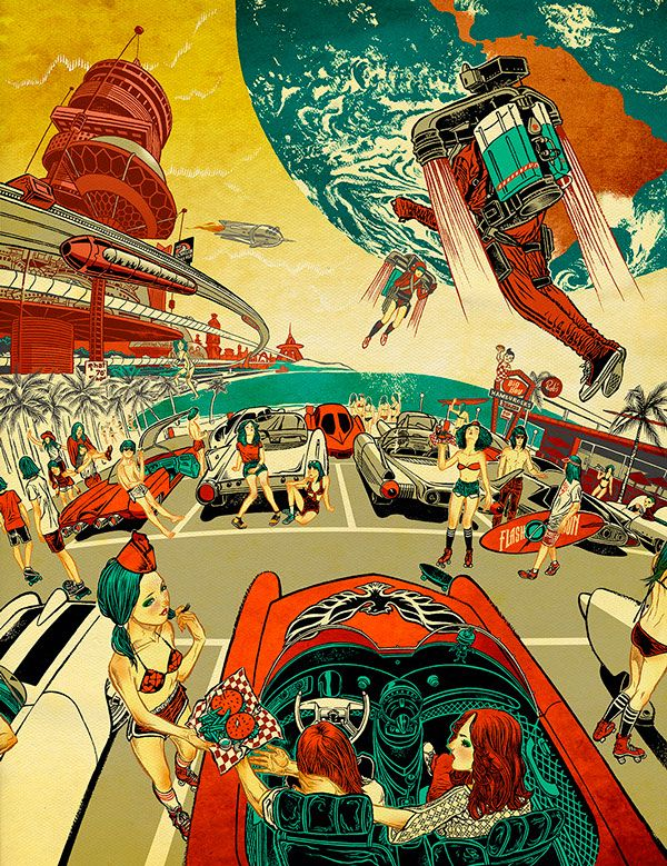 California Dreaming 2099 by Javier Medellin Puyou, via Behance