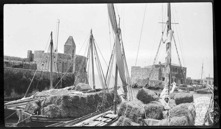 Naupaktos. Boats in harbor. 1925; Dorothy Burr Thompson.