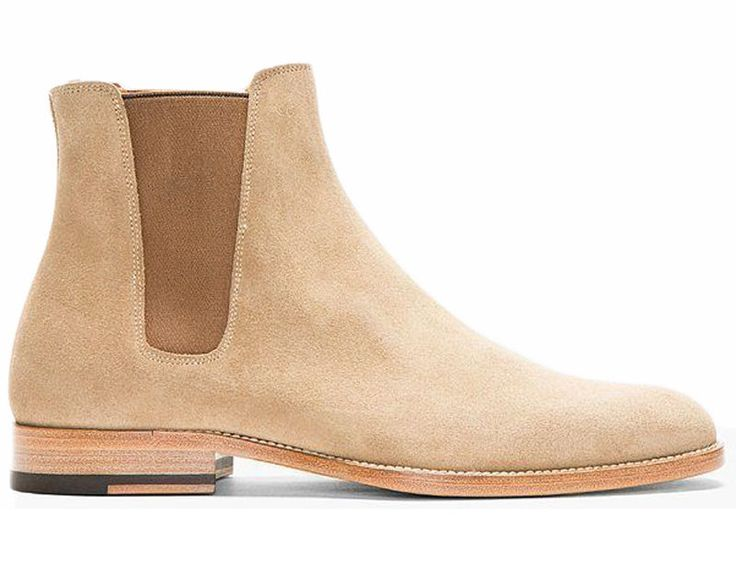 Handmade Chelsea Beige Color Suede Leather Boots Men ,Chelsea Suede boots  #Handmade #Chelsea