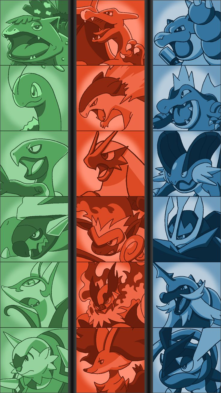 Final Starter Evolutions - Poster by Tails19950 on deviantART