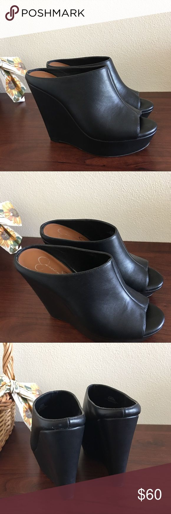 Jessica Simpson Wedge Slide These are SO comfortable but I just never wear them. Size 6.5. Like new. Send an offer or bundle to save! Authentic. Jessica Simpson Shoes Wedges