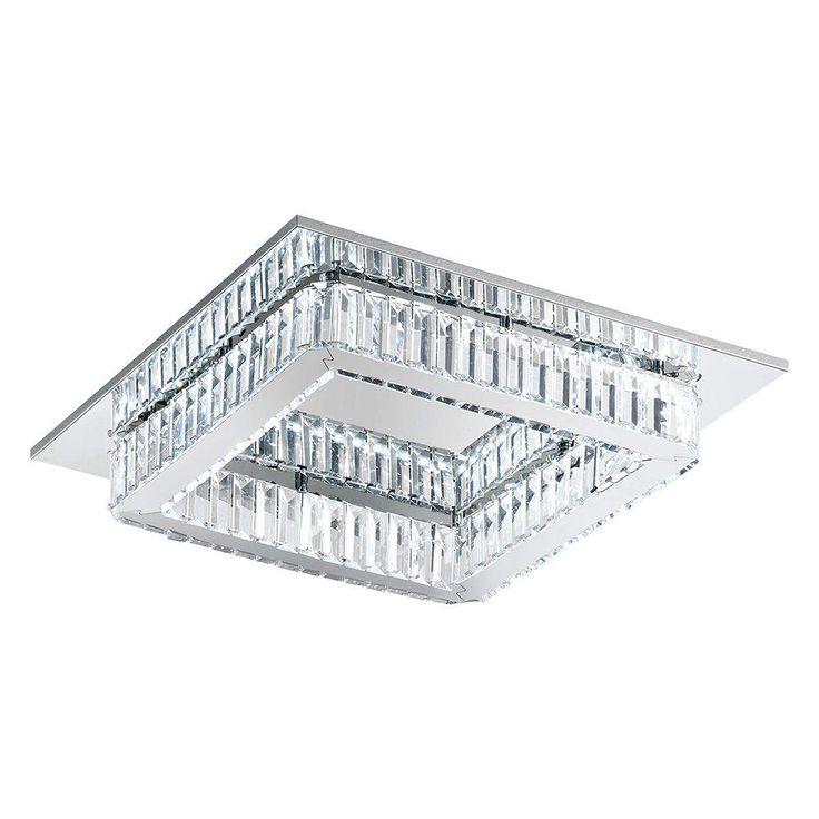 Eglo Corliano 8-Light Chrome Integrated LED Ceiling Light