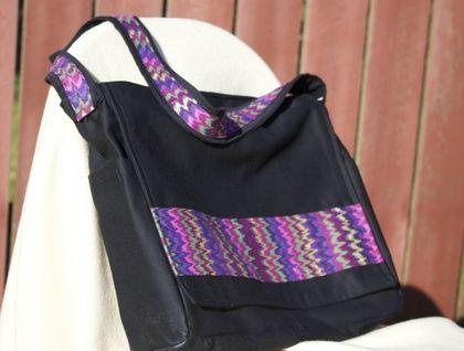 Every day messenger bag, purple stripe