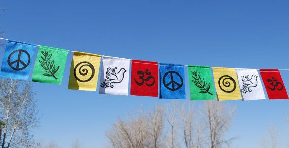 Gratitude FlagsSymbols of Peace small Made with by arubymoon