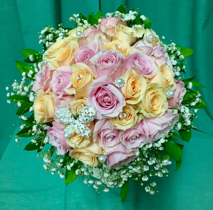 Roses pink and peach