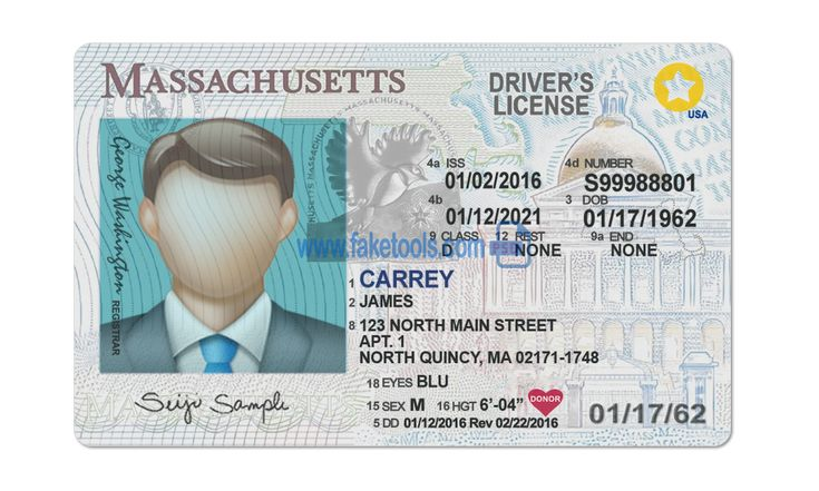 Massachuse Driver License Psd Template