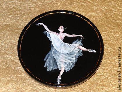 Тарелка декоративная Балет В ночи (малая) - чёрно-белый,Тарелка декоративная