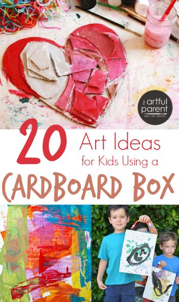 20 Cardboard Art Ideas for Kids