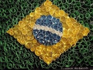Bandeira do Brasil de Virginia Roballo.