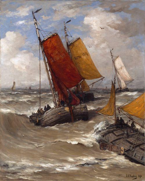 Hendrik Willem Mesdag:  Zurück vom Fischfang (1895)