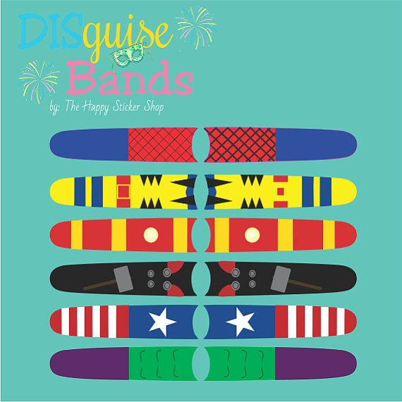 Hero In You Collection Magic Band Sticker Decal DISguise Band Vinyl Decal to Decorate Your Theme Park Wrist Band