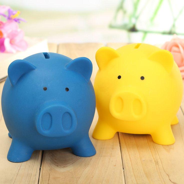 Porco moedas de poupança de brinquedo dinheiro do dinheiro mealheiro caixa de…
