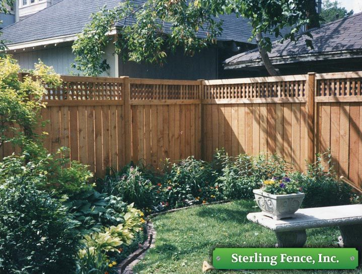wood with lattace privacy fence   Wood Fences, Wooden Fencing   Lattice Top Fence   Minneapolis, MN