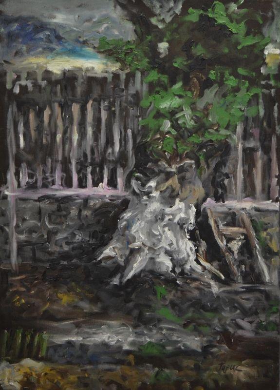 Copacul din grădină – Alexandru Papuc – 3536 lei | EliteArtGallery - galerie de artă