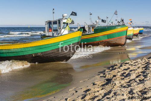 """Pobierz zdjęcie royalty free  """"Colorful fishing vessels."""" autorstwa gubernat w najniższej cenie na Fotolia.com. Przeglądaj naszą bazę tanich obrazów online i odnajdź doskonałe zdjęcie stockowe do Twoich projektów reklamowych!"""