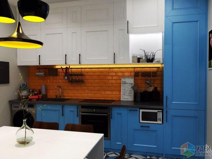 Интерьер в стиле фьюжн, дизайн кухни