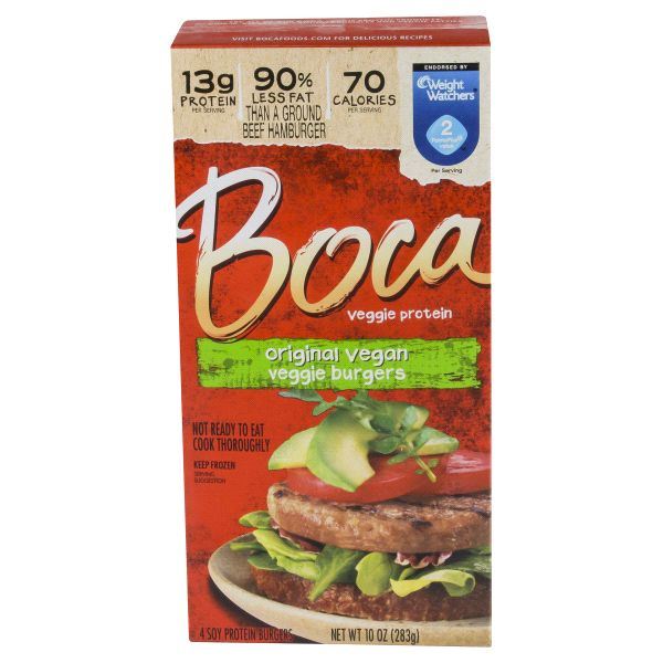 Boca All American Burgers 10 oz    I prefer other veggie burgers but they are OK.