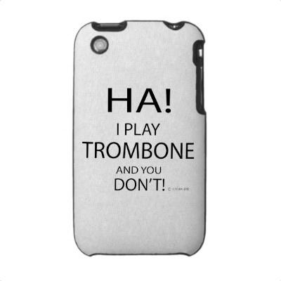 Ha Trombone Iphone 3 Cover by TempermentalMusician